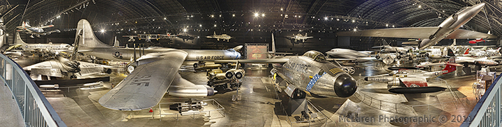 Gigapan - panorama - virtual tour - Epic Pro Robotic Mount - Jet Fighters - Eugene W. Kettering Cold War Gallery - USAF Wright Paterson AFB